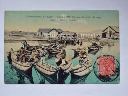 BOLIVIA PERU' LAGO TITICACA Embarcaciones Fisherman Boat Old Postcard Indios - Bolivia