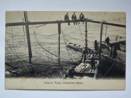 USA COLUMBIA RIVER Portland OREGON Salmon Traps Fisherman Old Postcard - Portland
