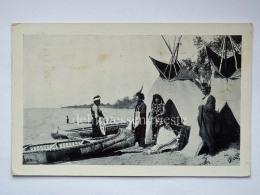 USA OJIBWAY INDIANS CHIPPEWA The Summer Camp Lake Native Old Postcard - Stati Uniti