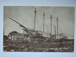 USA BATH MAINE Shipbuilding Deering's Ship Yards Elisha Atkins Old Postcard - Stati Uniti