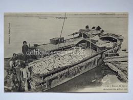 VIETNAM INDOCINA INDOCHINE FRANCE TONKIN Jonque Poisson Boat Fisherman Old Postcard - Vietnam