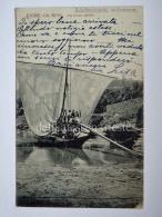 PORTOGALLO PORTUGAL ENTRE OS RIOS Barco Rabello Boat Fisherman AK Old Postcard - Altri