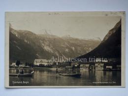 NORVEGIA NORGE Fjærland Fiaerland Sogn Fish Boat Fisherman Old Postcard - Norvegia