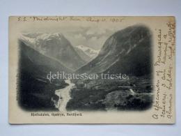 NORVEGIA NORGE Oppstryn Hjelledalen Nordfiord Old Postcard - Norvegia