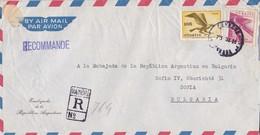 AIRMAIL. DELEGACION ARGENTINA. TO BULGARIA. CERTIFICADA. CIRCA 1960S - BLEUP - Poste Aérienne