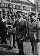 Militaria WW2 -   Adolf Hitler Et Bénito Mussolini En Italie - 1939-45