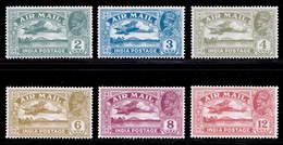 India 1929 Air Mail MNH/MH Set SG 220/225 Cat £45 - India (...-1947)