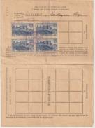 Rare Feuillet Intercalaire D'assuré Social Avec Timbre 392 Cité De Carcassonne Annulation Payé Le 25 Nov 1938 RRR - Fiscaux