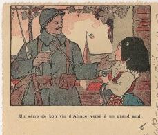 """REPIQUAGE """"Un Verre De Bon Vin D'Alsace à Un Grand Ami"""". SEMUR EN AUXOIS Cote D'Or Sur 25C SEMEUSE. 1922.  STENO. - Marcophilie (Lettres)"""