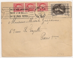 TARIF 15F, Bel Affranchissement. NICE R.P. Alpes Maritimes. 1949. - Marcophilie (Lettres)