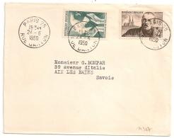 TARIF 15F, Bel Affranchissement Composé, PARIS 25 RUE DANTON. 1950. - Marcophilie (Lettres)