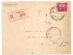PAIX 1F75, Horoplan PARIS 81 RUE DES CAPUCINES Sur Enveloppe Recommandée. - Marcophilie (Lettres)