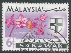 Sarawak. 1965 Orchids. 6c Used. SG 215 - Malaysia (1964-...)