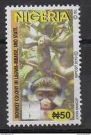 Nigeria 2010 Hologramm Hologramme Hologram Definitive Monkey Singe Ape Affe Fauna Faune MNH** - Nigeria (1961-...)