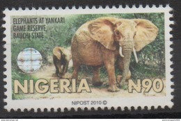 Nigeria 2010 Hologramm Holorgrammes Definitive Elephants Elefanten Faune Fauna MNH** - Nigeria (1961-...)