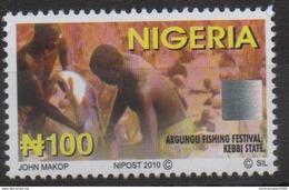 Nigeria 2010 Hologramm Hologramme Hologram Definitive Argungu Fishing Festival Fischerei Pêche MNH** - Nigeria (1961-...)