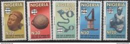 Nigeria 2010 Hologramm Holorgrammes Definitives 2000 Years Of Nigerian Arts Sculpture Kunst 5 Val. - Nigeria (1961-...)