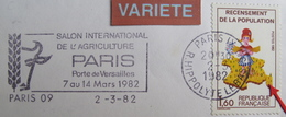 LOT 999 - RECENSEMENT DE LA POPULATION (1982) - N°2204a VARIETE ☛ 7 MANQUANT SUR LA CORSE - Curiosidades: 1980-89 Usados