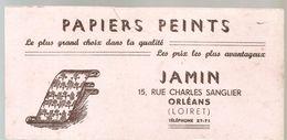 Buvard Papiers Peints JAMIN 15, Rue Charles Sanglier à Orléans - Stationeries (flat Articles)