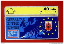 "GIBRALTAR: GIB-32 20 Years Of Gibraltar In The EEC ""Regular Issue"" 40 Unints. Unused - Gibraltar"