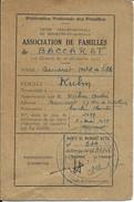 Baccarat-Association De Familles De Baccarat-Mr.Kuhn André (Voir Les Scans) - Autres Collections