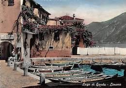 Italy Limone Lago Di Garda, Boats, Bateaux Vera Foto - Italia