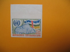 Timbre Non Dentelé  N° 14  Admission Aux Nations Unies  1961 - Central African Republic