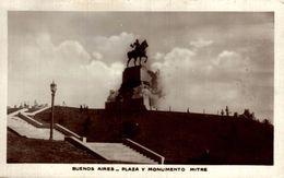 RPPC FOTOPOSTAL  BUENOS AIRES PLAZA U MONUMENTO MITRE    ARGENTINE  REPUBLICA ARGENTINA - Argentina