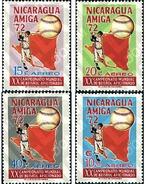 Ref. 26960 * MNH * - NICARAGUA. 1973. AMATEUR BASEBALL CHAMPIONSHIP . CAMPEONATOS DE BEISBOL AMATEUR - Nicaragua