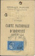 Sierck-les-Bains-Carte Nationale D'Identité De Madame Guidt Marie-Madeleine,Née Marhoffer (Voir Les Scans) - Vieux Papiers