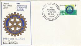 Rotary Club International D'Australie (50 Ième Anniversaire), Lettre Spéciale FDC D'Australie - Rotary, Club Leones