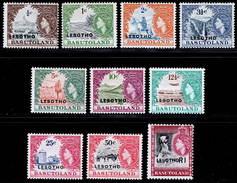 Lesotho 1966 MNH Set SG 110А/120А Cat £8 - Lesotho (1966-...)