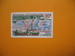 Timbre Non Dentelé  N° 102  Inauguration De La Raffinerie De Port-Gentil  1967 - Central African Republic