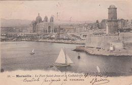 Cp , 13 , MARSEILLE , Le Fort St-Jean Et La Cathédrale - Sonstige Sehenswürdigkeiten
