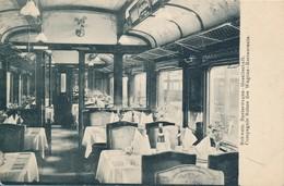 Intérieur Wagon Restaurant De La Compagnie Suisse Des Wagons Restaurants- Schweiz Speisewagen Gesellschaft Kunkler Basel - Trains