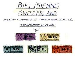 SWITZERLAND, Biel (Bienne), */o M/U, F/VF - Fiscaux