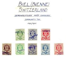 SWITZERLAND, Biel (Bienne), Used, F/VF - Fiscaux