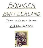 SWITZERLAND, Bönigen, Used, F/VF - Fiscaux