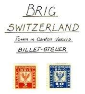 SWITZERLAND, Brig, * MLH, F/VF - Fiscaux