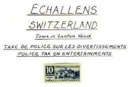 SWITZERLAND, Echallens, * MLH, F/VF - Fiscaux