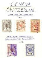 SWITZERLAND, Genève, Used, F/VF - Fiscaux