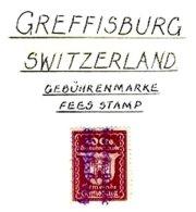 SWITZERLAND, Greffisburg, Used, F/VF - Fiscaux