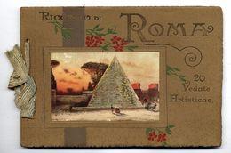 RICORDO DI ROMA  -  20 VEDATE ARTISTICHE  -  TRES BELLES GRAVURES COULEURS - Collectors Manuals