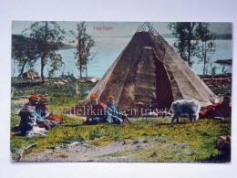 SVEZIA Sverige SWEDEN LAPPLAGER LAPPLAND Old Postcard - Svezia