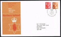 RB 1173 -  GB 1976 Wales Scotland & N.I. 10p & 11p Regional Stamps 3 X FDC First Day Covers - FDC