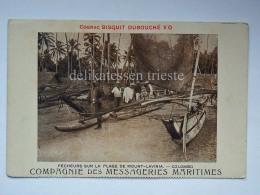 SRI LANKA COLOMBO Plage De MOUNT LAVINIA Cognac Bisquit DUBOUCHE' Old Postcard - Sri Lanka (Ceylon)
