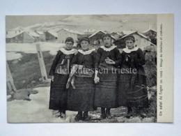 COGNE Un Saluto COSTUMI Village De Gemilian Aosta Vecchia Cartolina - Italia