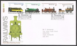 RB 1173 -  GB 1975 Railways FDC First Day Cover - Stockton Cancel - FDC