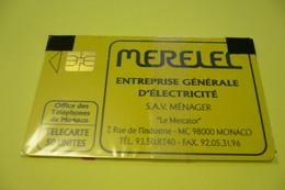 Télécarte  50 U  MERELEC  NEUVE SOUS BLISTER - Monaco