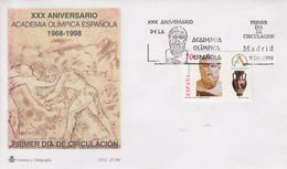 Enveloppe  FDC  1er  Jour    ESPAGNE    30éme  Anniversaire   De   L'  Académie  Olympique  Espagnole   1998 - Juegos Olímpicos